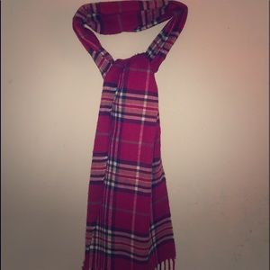 Red plaid scarf
